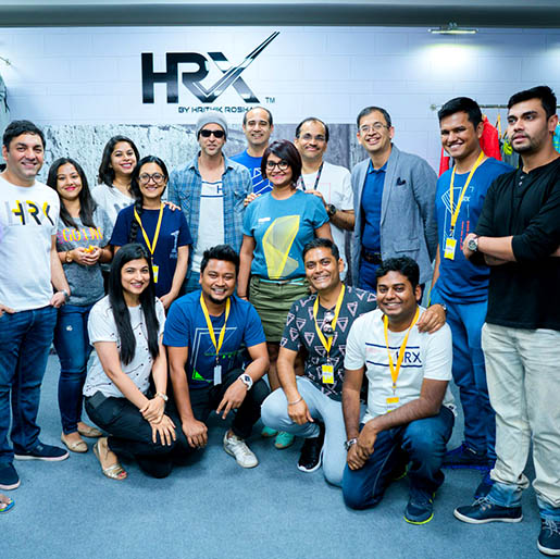 HRX team at Myntra for the spring summer collection 2017 launch