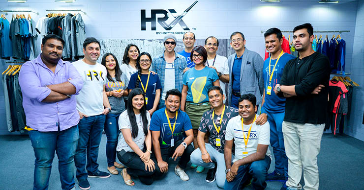 Team HRX at Myntra for the spring summer collection 2017 launch