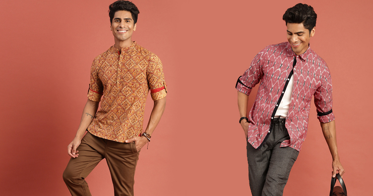 Fusion ethnic wear for men