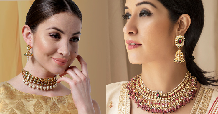 Jewellery set on Myntra