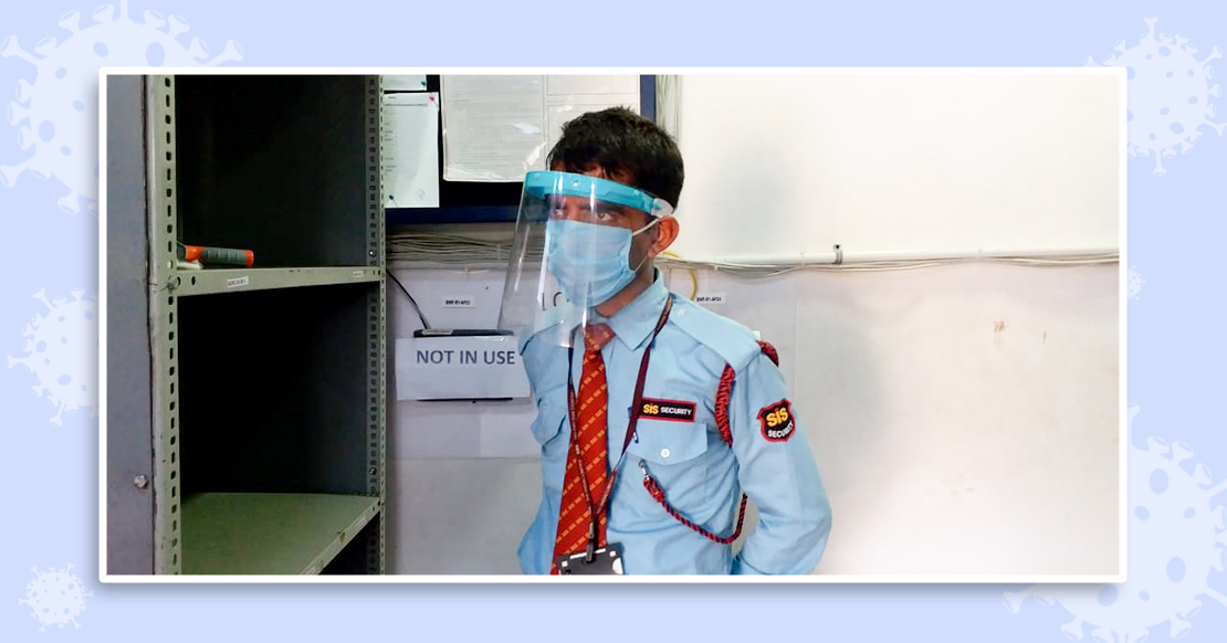 Safety measures at Myntra - face shields